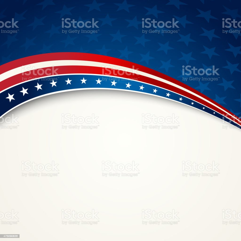 American Flag, Vector patriotic background for Independence Day,...