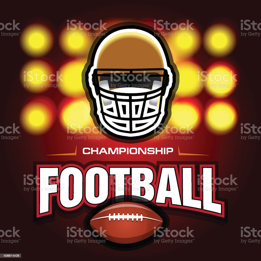 American football and rugby game poster template. vector art illustration