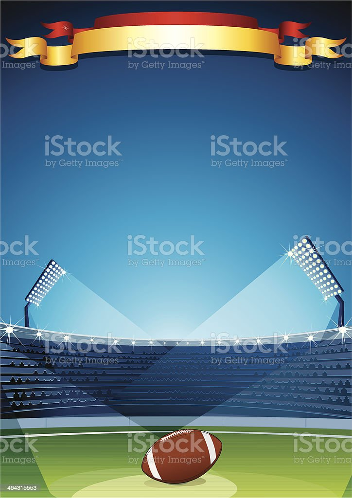 American Football and Rugby Poster royalty-free stock vector art