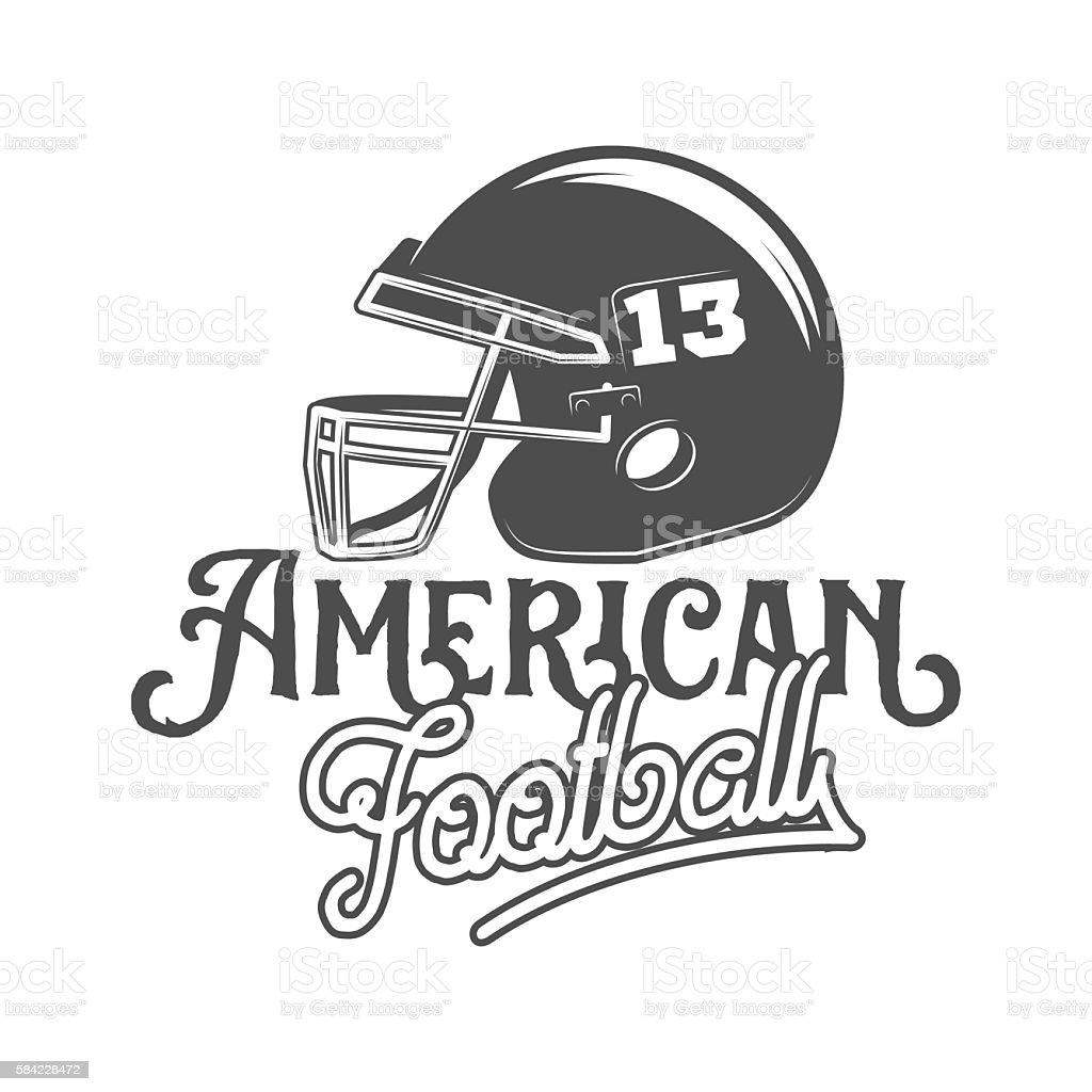 american football badges, logo and labels vector art illustration