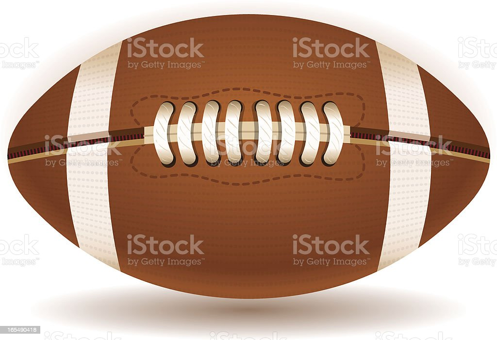 American Football Ball Isolated on Withe royalty-free stock vector art