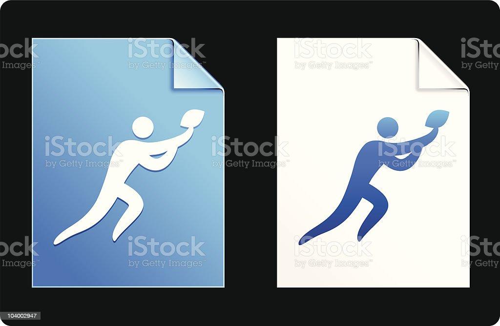 American football blue design elements royalty-free stock vector art