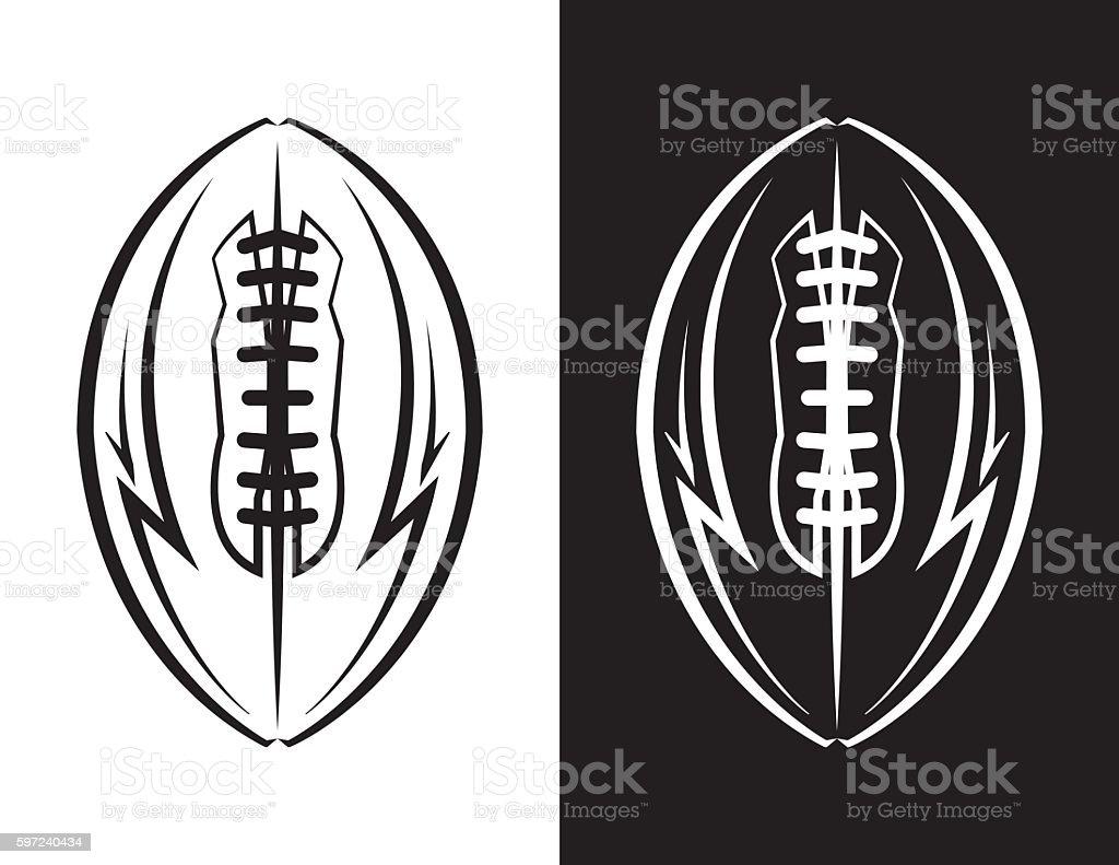 American Football Emblem Icon Illustration vector art illustration