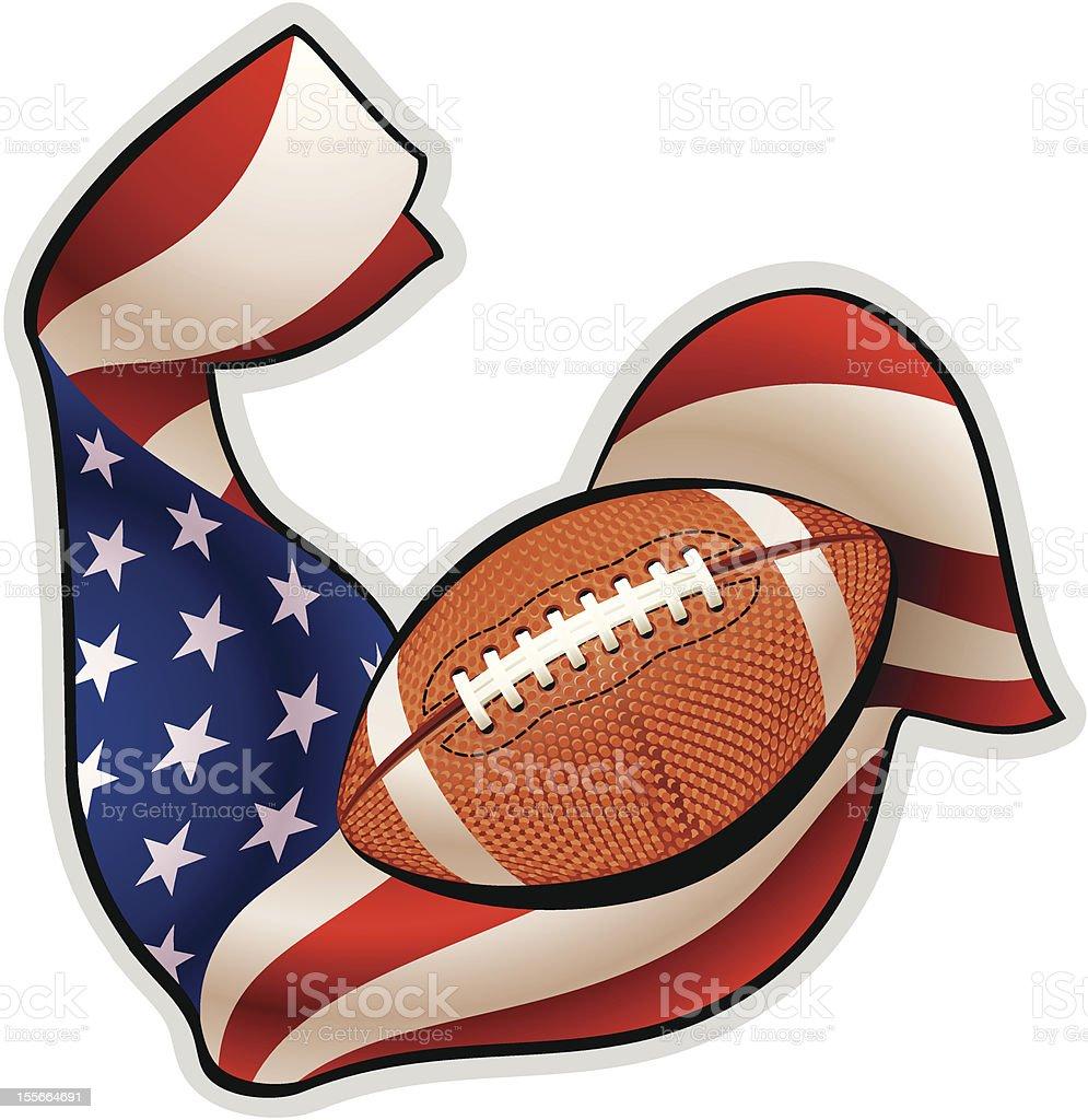 American football emblem vector art illustration