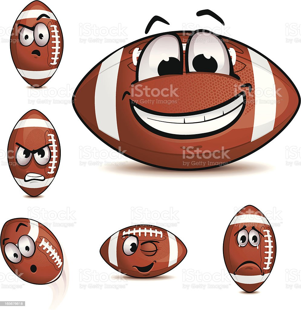 American Football Emoticons Set 3 royalty-free stock vector art