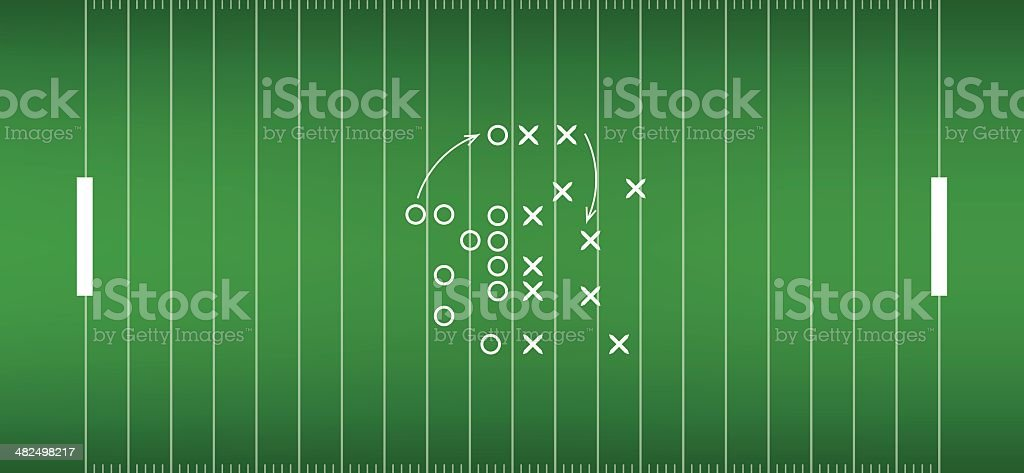 american football field background with artificial turf. soccer field vector art illustration
