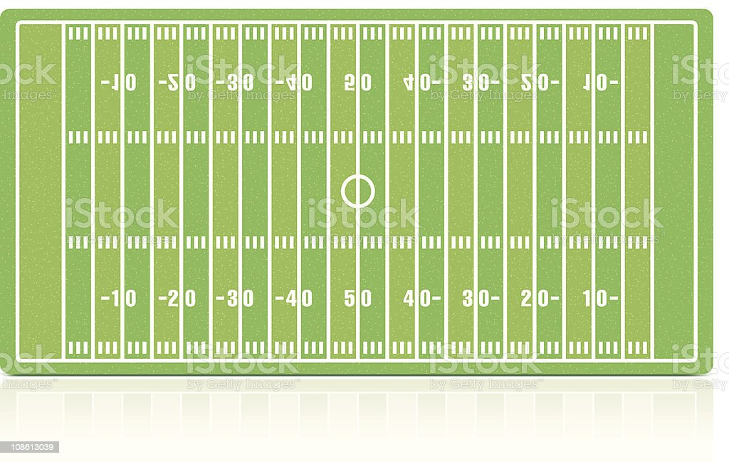 American football field with grass (noise) texture royalty-free stock vector art