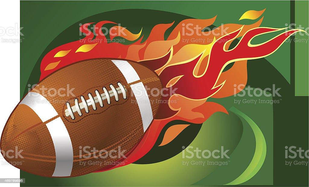 American Football fireball vector art illustration