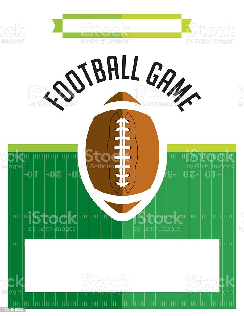 American Football Game Flyer Illustration vector art illustration