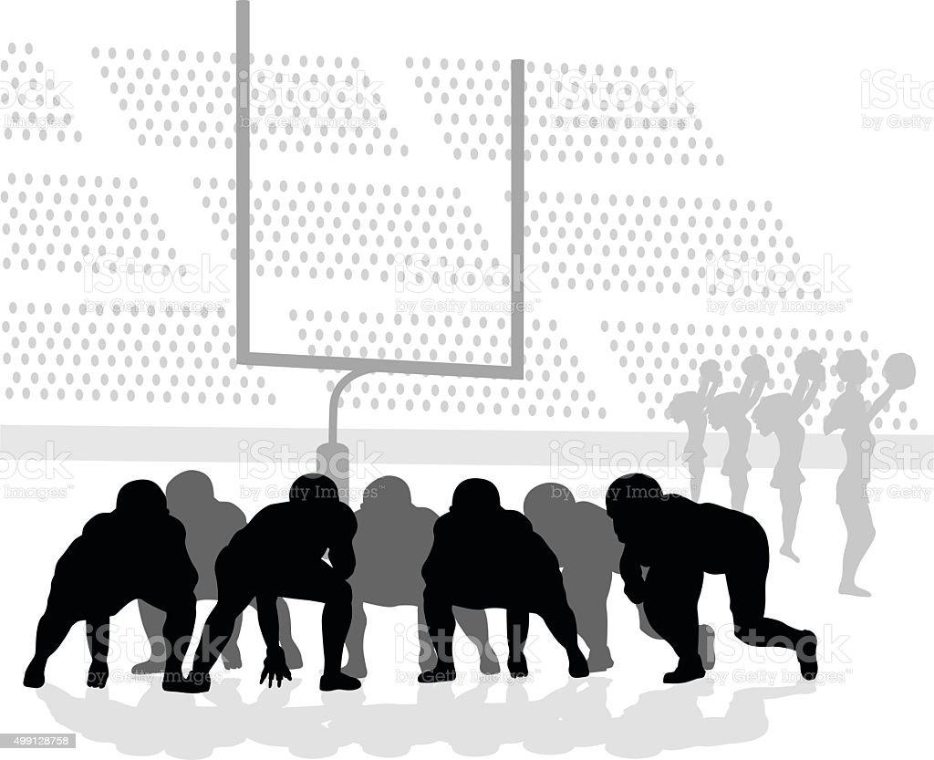 American Football Game vector art illustration