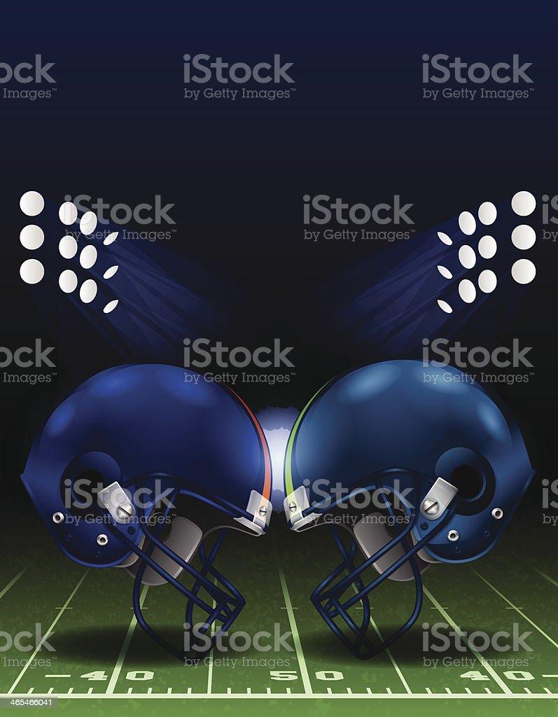 American Football Helmet Clash vector art illustration
