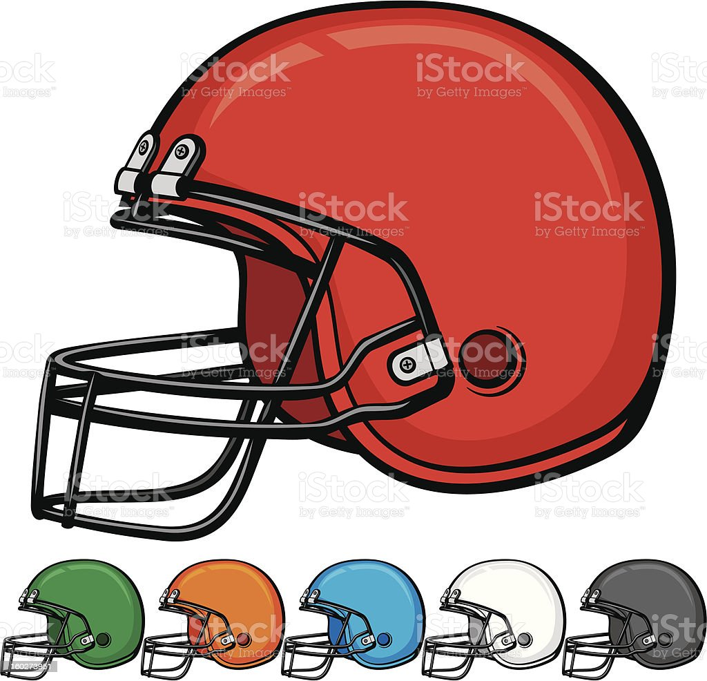 american football helmet collection royalty-free stock vector art