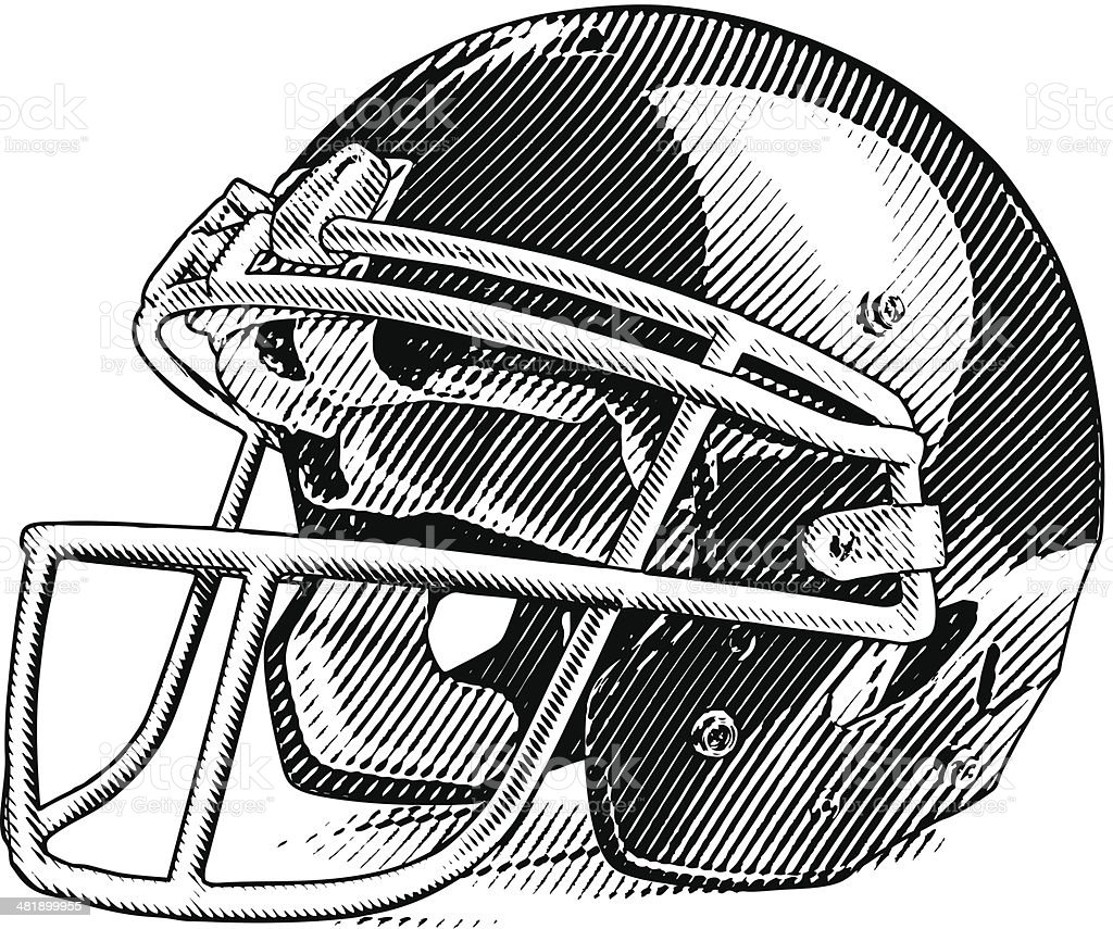American Football Helmet royalty-free stock vector art