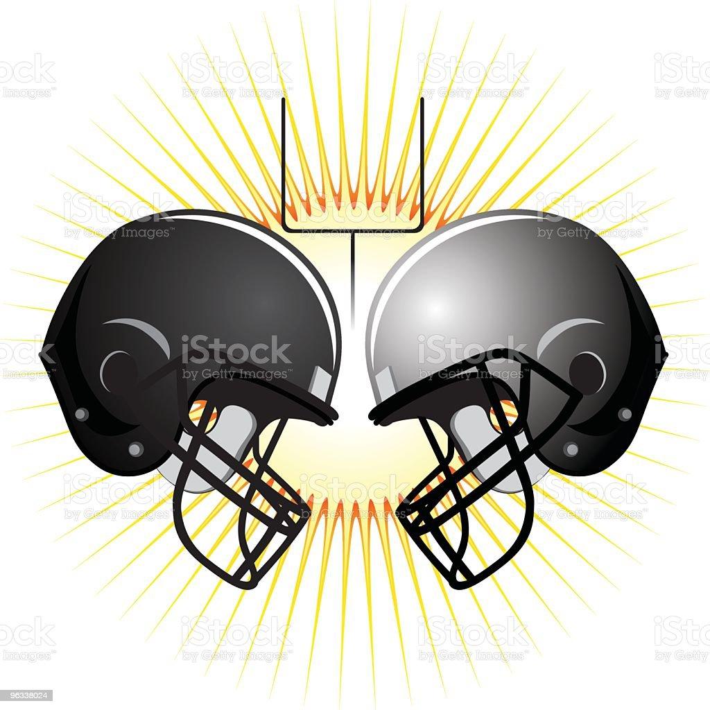 American Football Helmets vector art illustration
