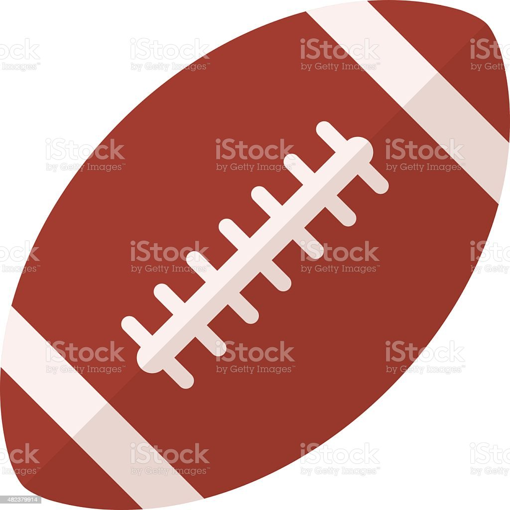 American football icon, flat design style, rugby ball vector symbol vector art illustration