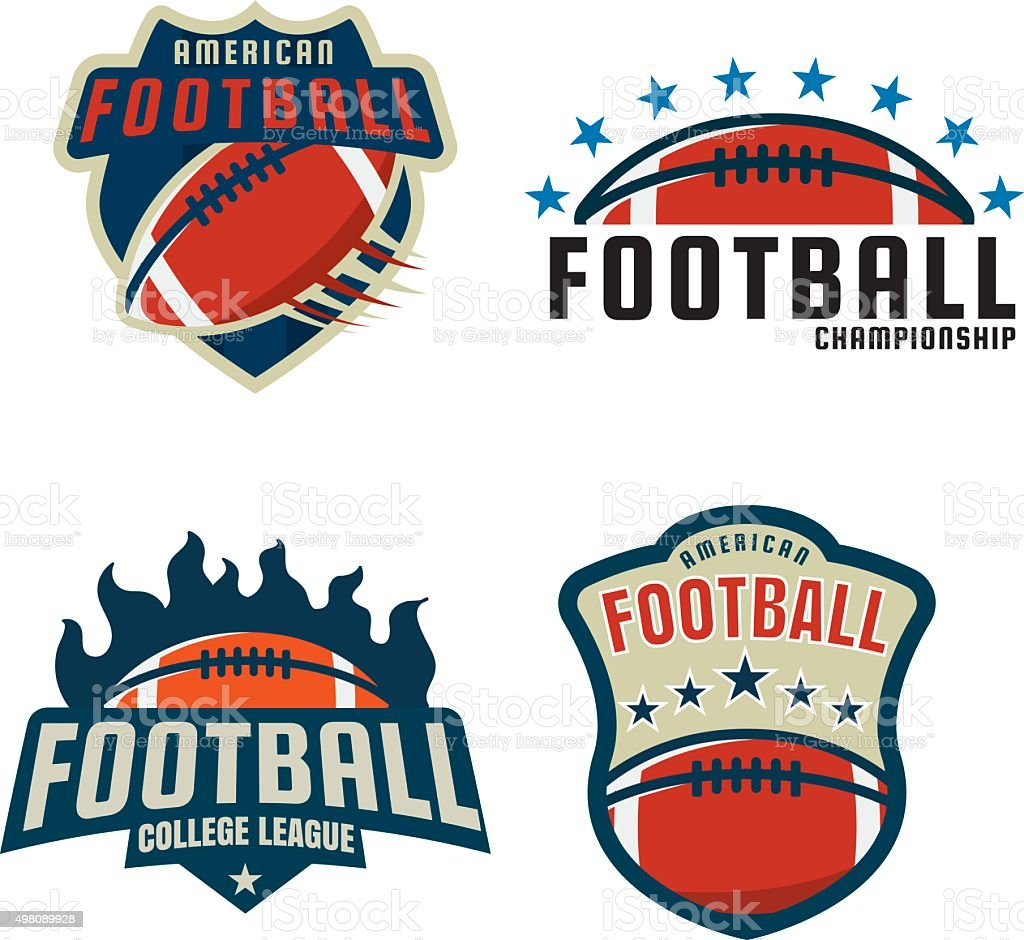 American football icon template collection,vector illustration vector art illustration