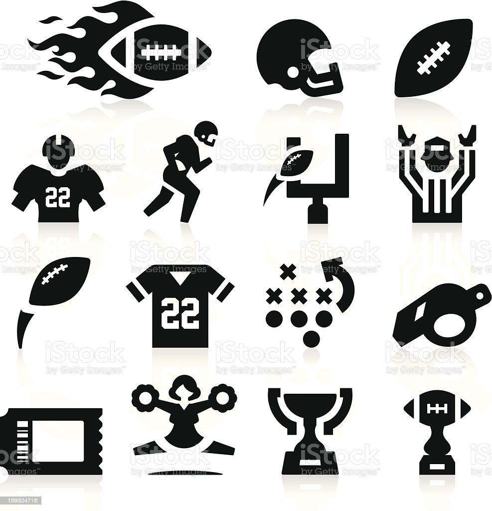 American Football Icons royalty-free stock vector art