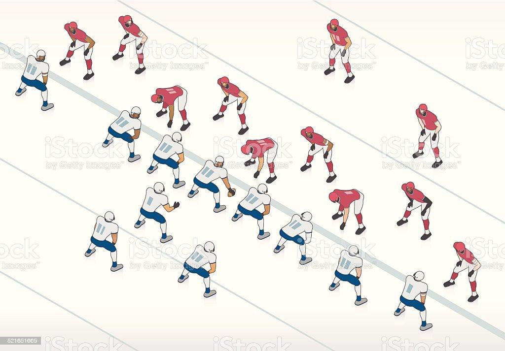 American Football Illustration vector art illustration