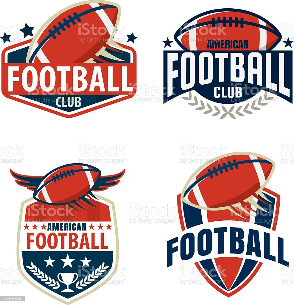 American football logo template collection,vector illustration vector art illustration