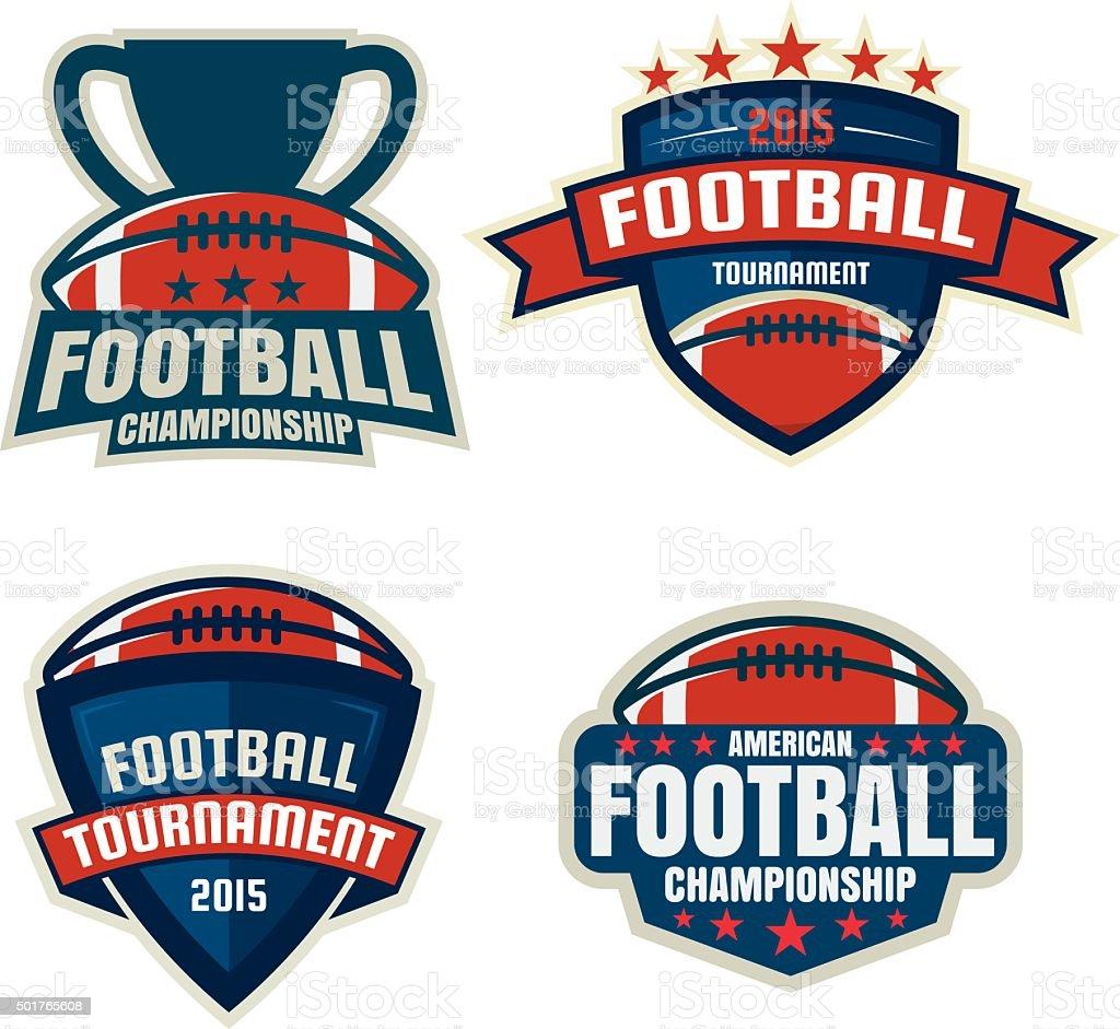 American football logo template collection,vector illustration vector art illustration