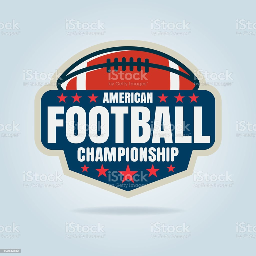 American football logo template,vector illustration vector art illustration