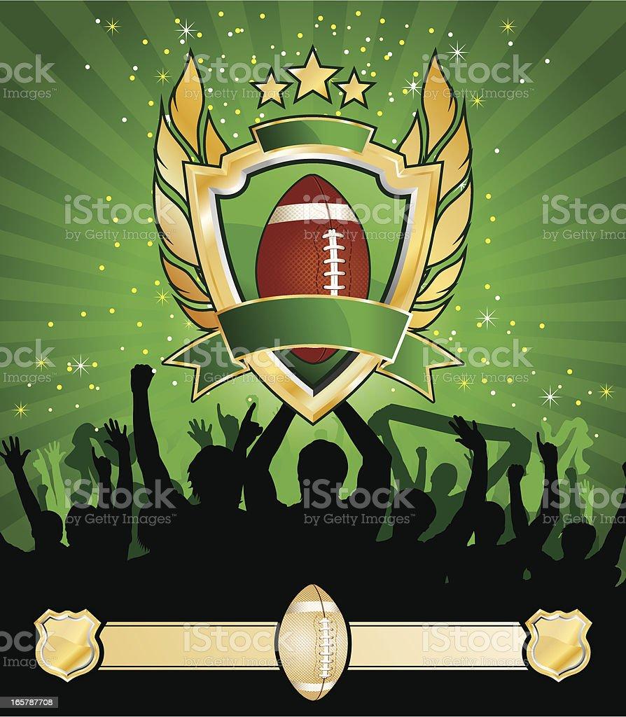 American football match placard royalty-free stock vector art