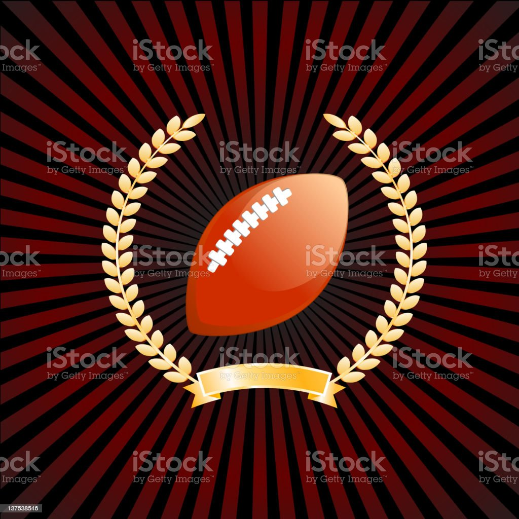 American Football on royalty free vector Background with glow effect royalty-free stock photo