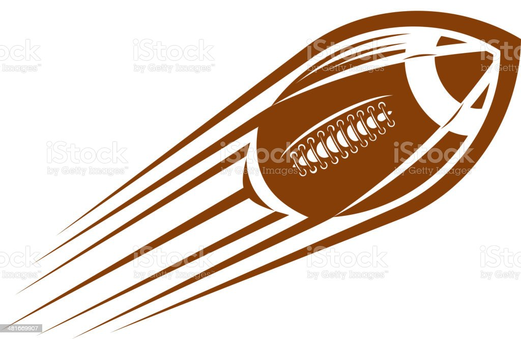 American football or rugby ball flying through the air royalty-free stock vector art