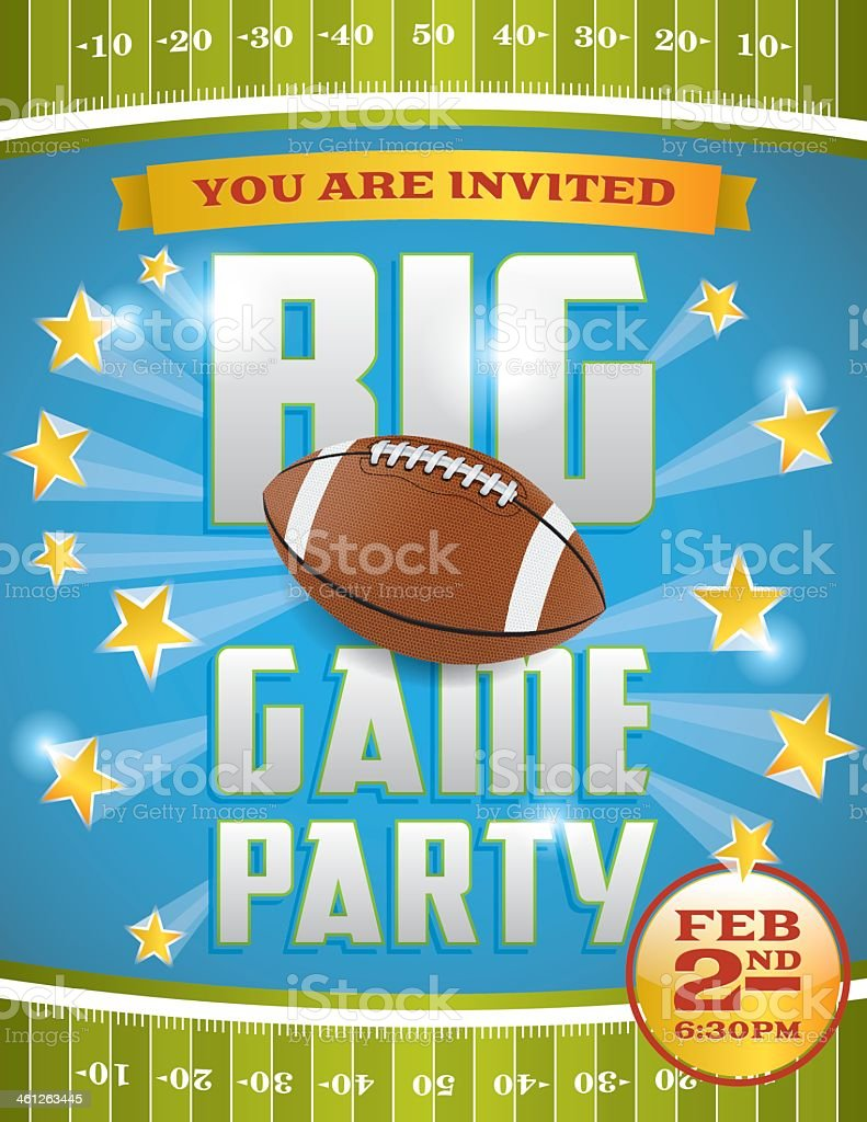American Football Party Flyer vector art illustration