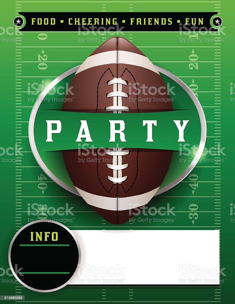 American Football Party Template Illustration vector art illustration