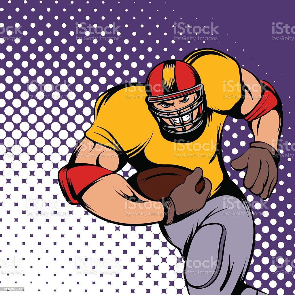 American football player vector art illustration