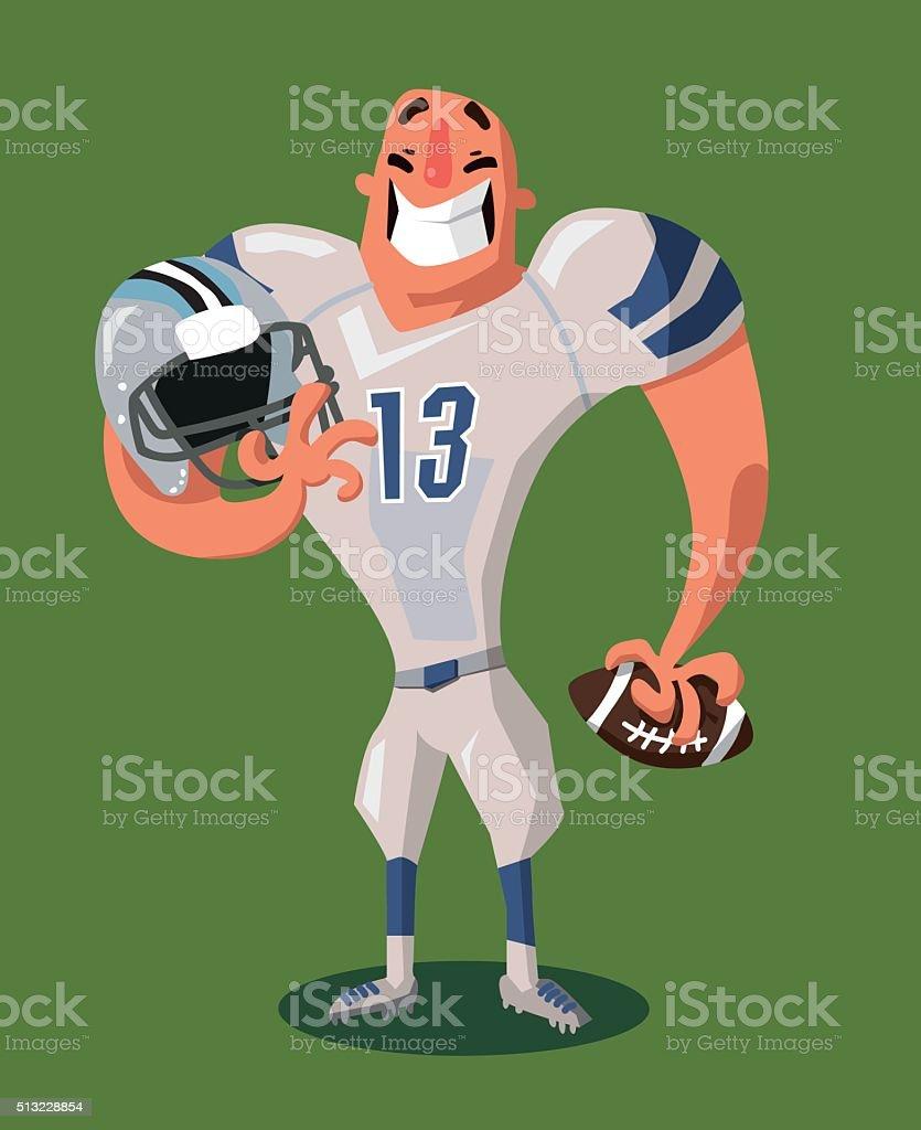 American Football Player vector art illustration