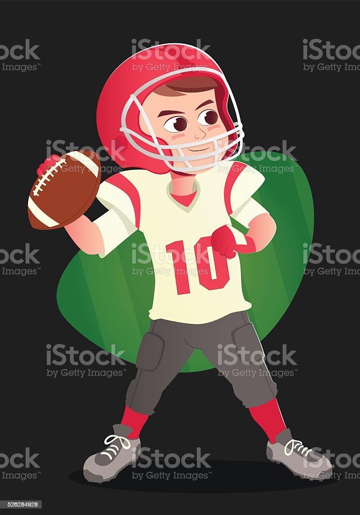 football américain. stock vecteur libres de droits libre de droits