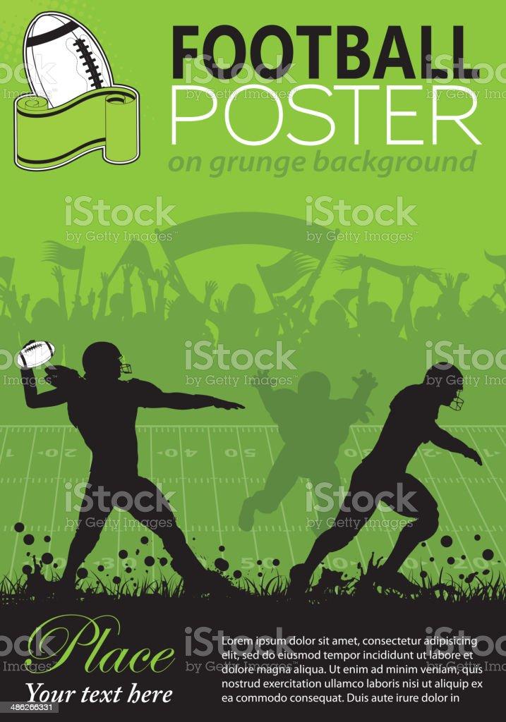 American Football Poster vector art illustration