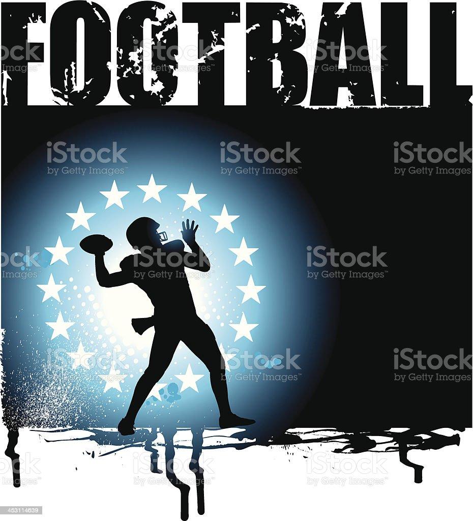American Football Quarterback - All-Star Grunge Graphic royalty-free stock vector art