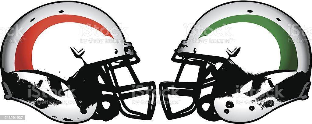 american football rivalry vector art illustration