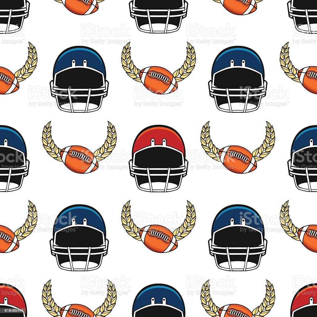 American football seamless pattern vector art illustration