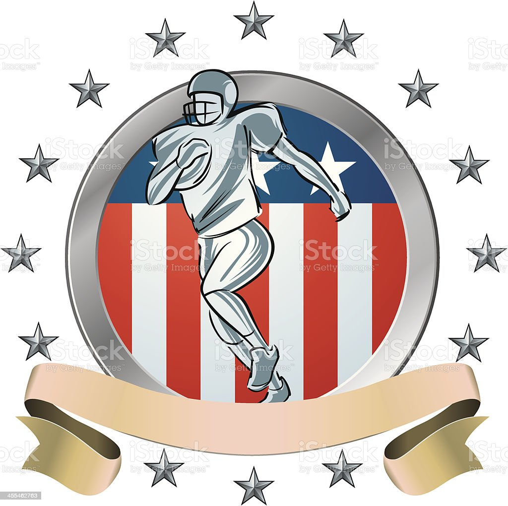 American Football Shield icon royalty-free stock vector art