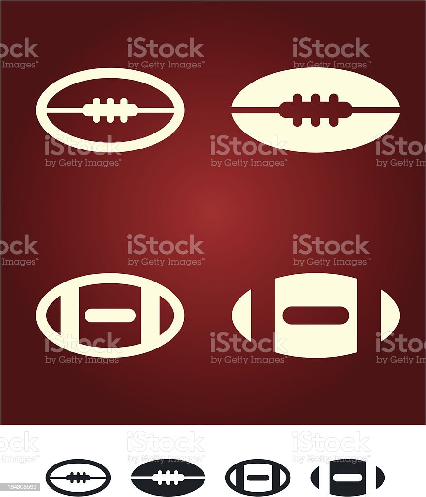 American football sign royalty-free stock vector art