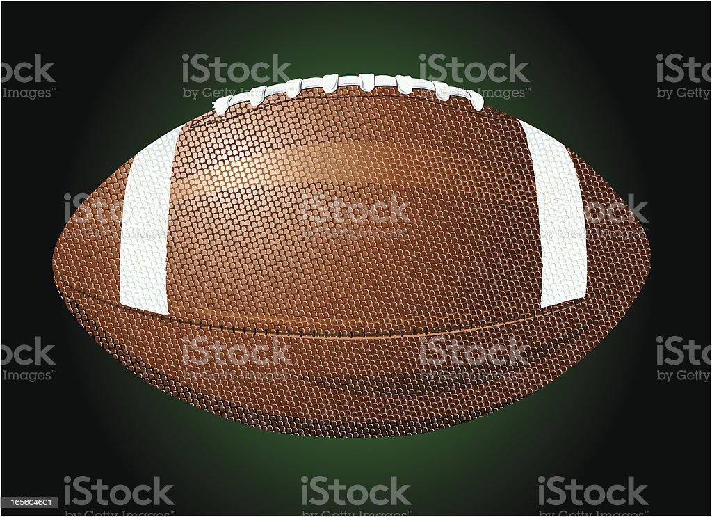 American Football - Sport Ball, Equipment vector art illustration