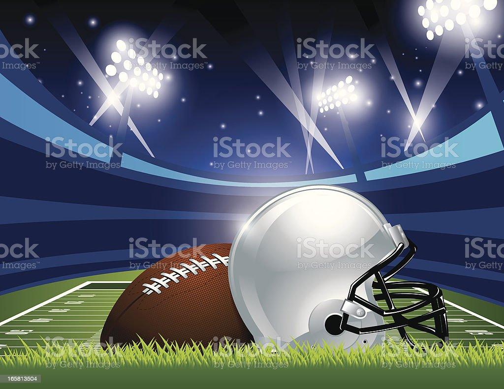 American Football Stadium royalty-free stock vector art