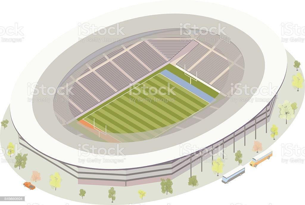American Football Stadium vector art illustration