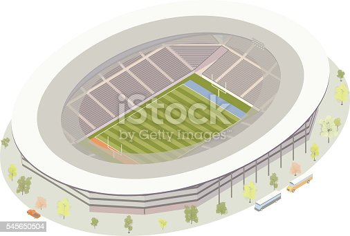 Isometric American football stadium