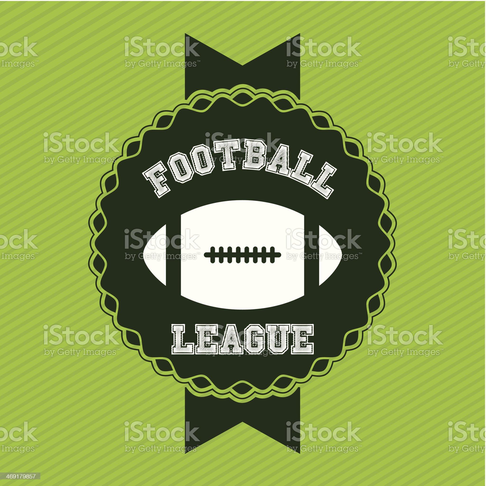 American Football royalty-free stock vector art