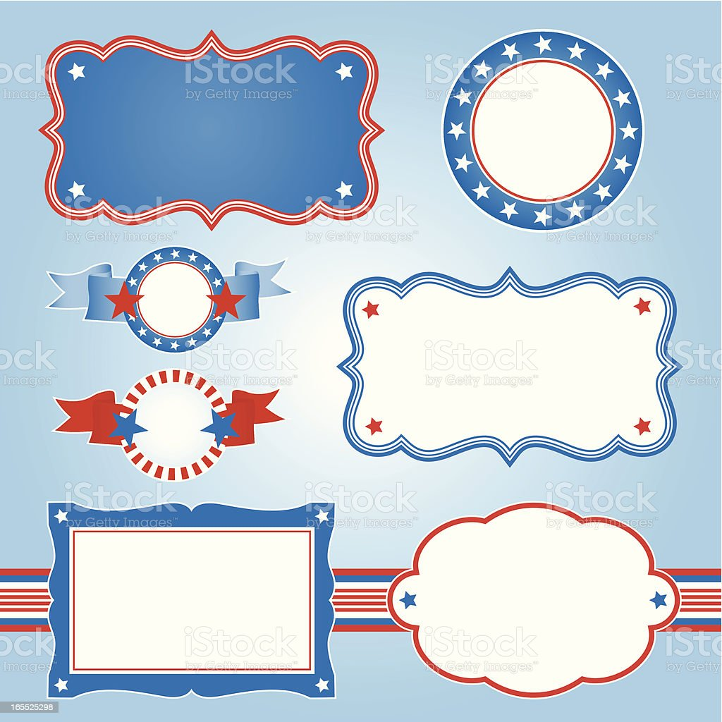 American frames royalty-free stock vector art