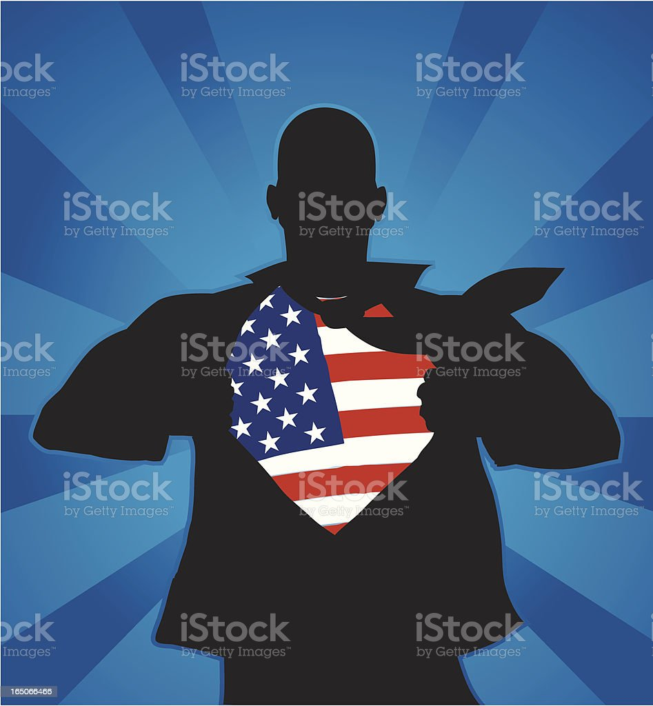 American hero vector art illustration