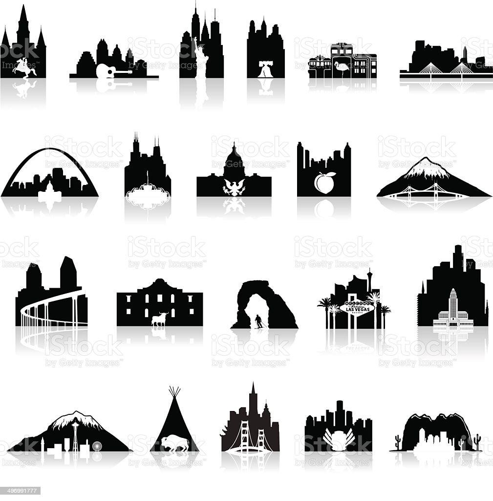 American Icons Super Set - Illustration vector art illustration