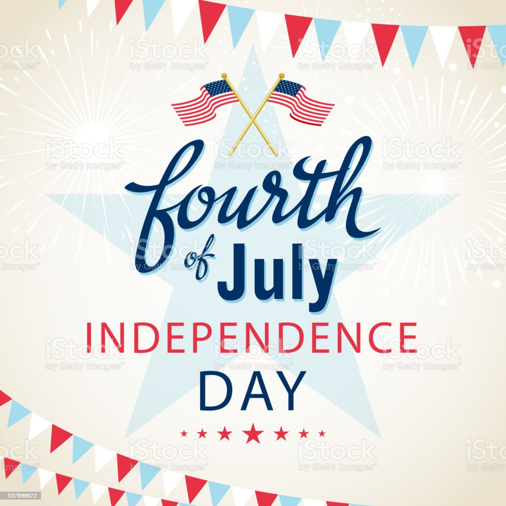 American Indenpence Day vector art illustration