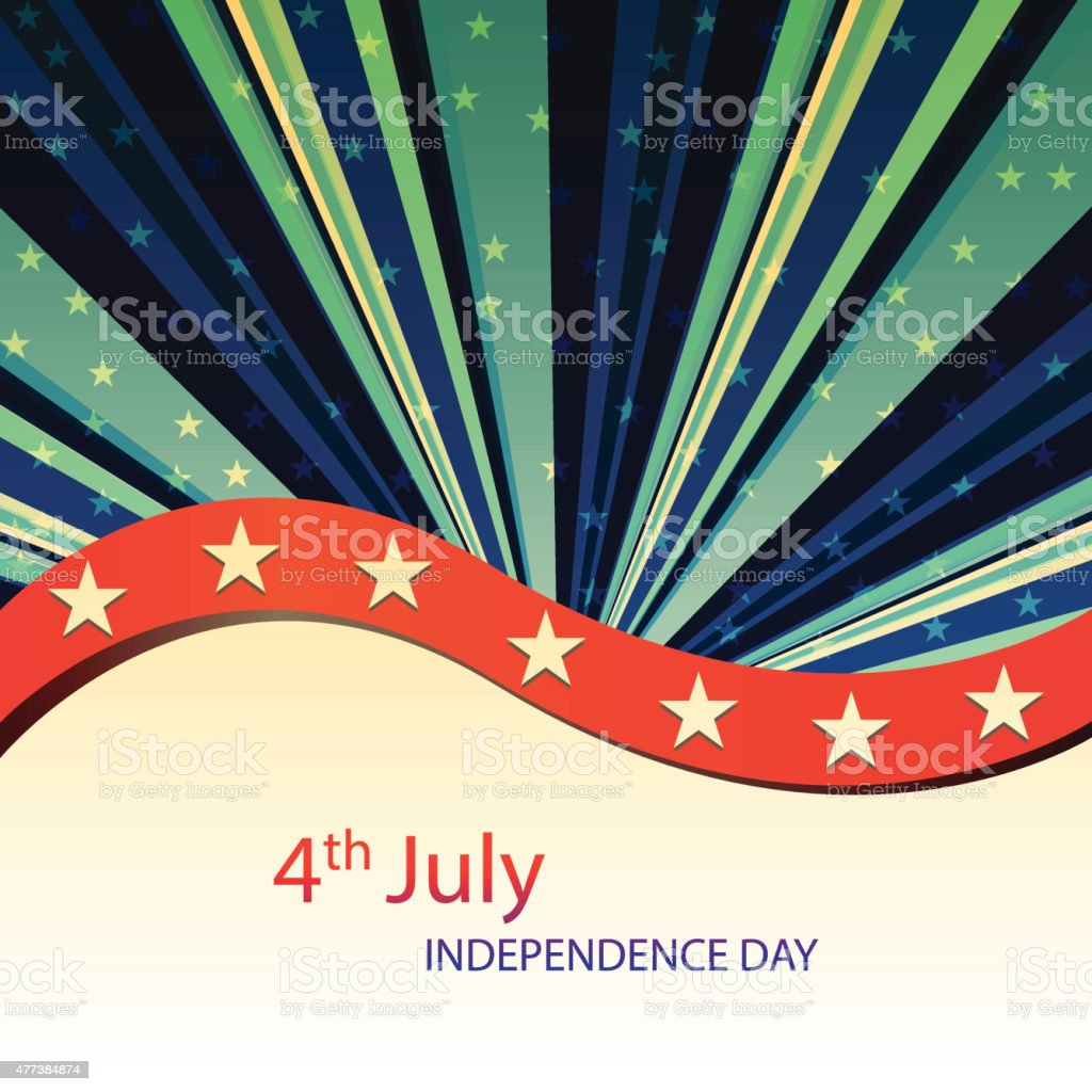 American Independence day background vector art illustration