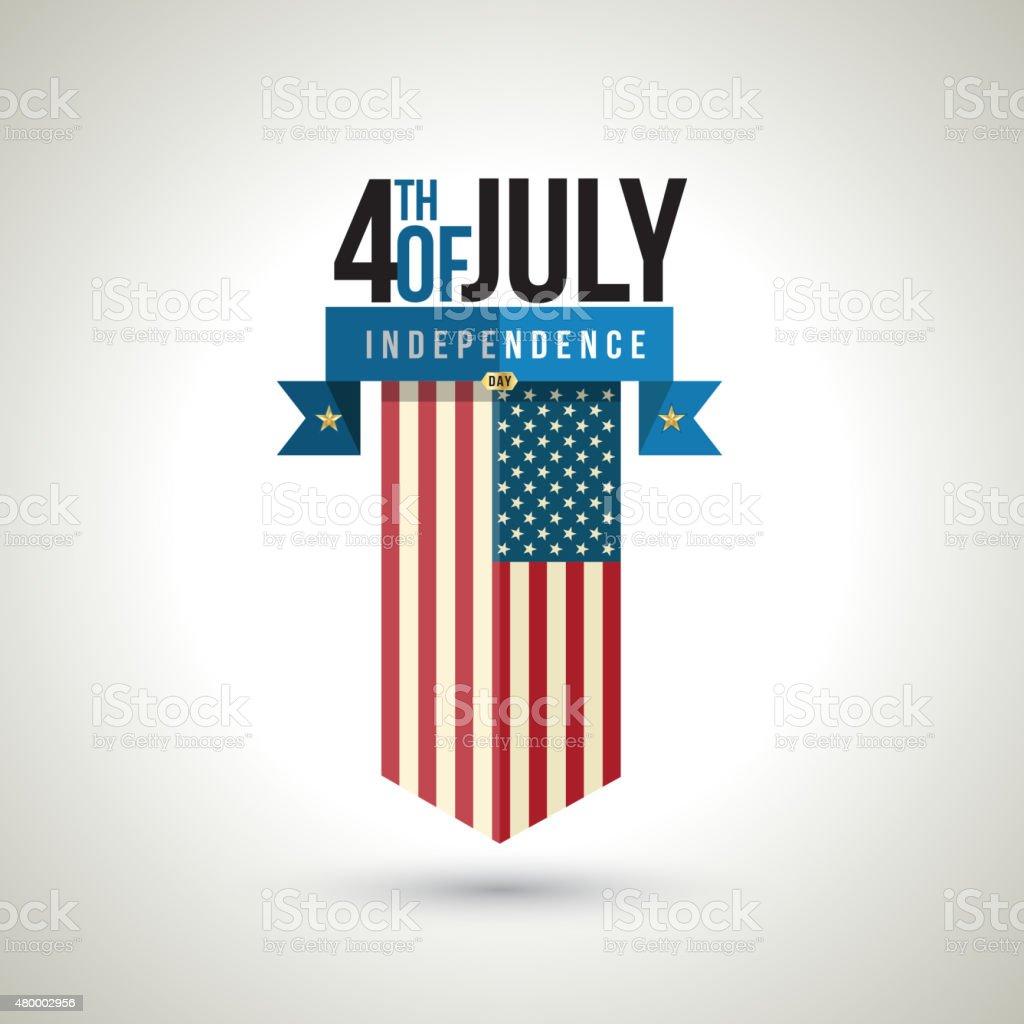 American independence day banner design. vector art illustration